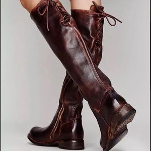 Bed Stu Manchester teak glaze lace up riding boots
